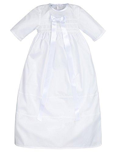 Bateo Design Baby Taufkleid aus Baumwolle Simon mit Schleife...
