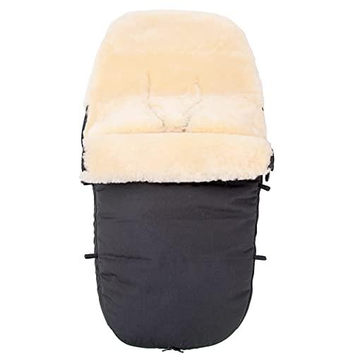 Merauno Fußsack für Kinderwagen mit Lammfell