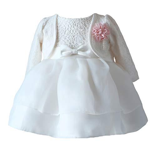 LOLIWE Taufkleid Taufbolero Baby Mädchen Kleid...