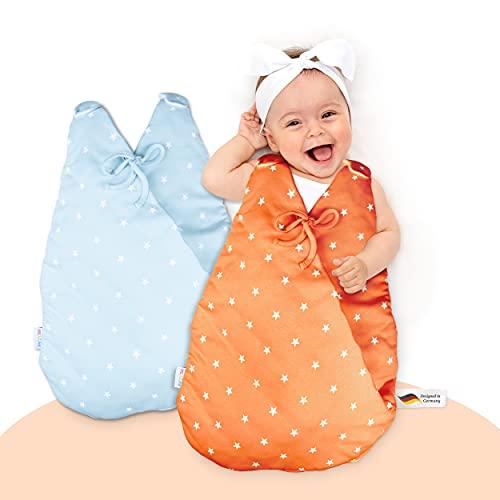 MiKaKid Ganzjahres Babyschlafsack – Schlafsack für Baby - 100%...