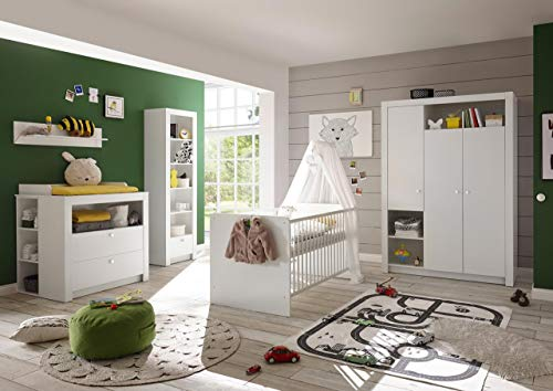 lifestyle4living Babyzimmer Komplettset 4-teilig