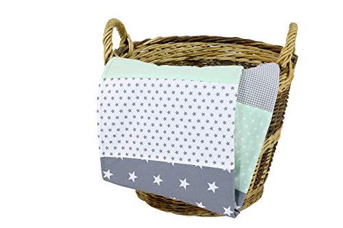 ULLENBOOM Babydecke mintgrün & grau