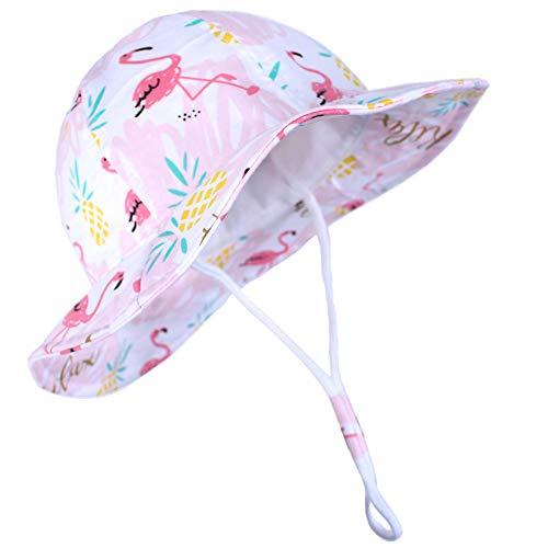 Funnycokid Baby Sonnenhut Mädchen UPF 50 Anti-UV Lustiges Muster...