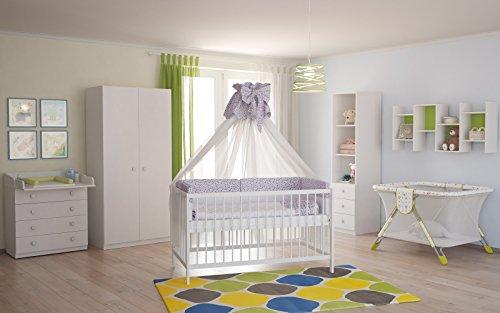 Polini Babyzimmerset weiß 4-teilig