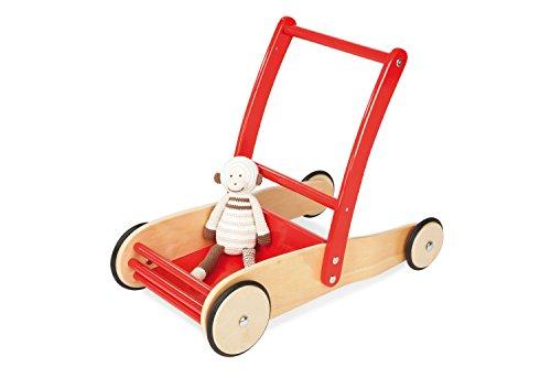 Pinolino Lauflernwagen Uli, aus Holz, mit Bremssystem,...