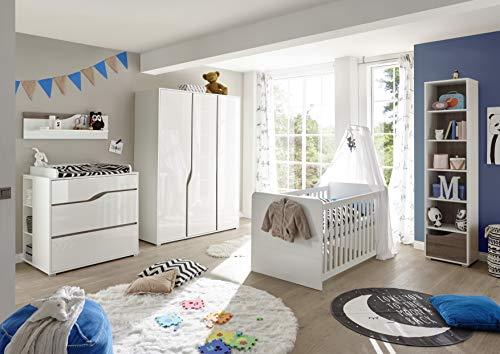 Babyzimmerset Mara weiß 8-teilig