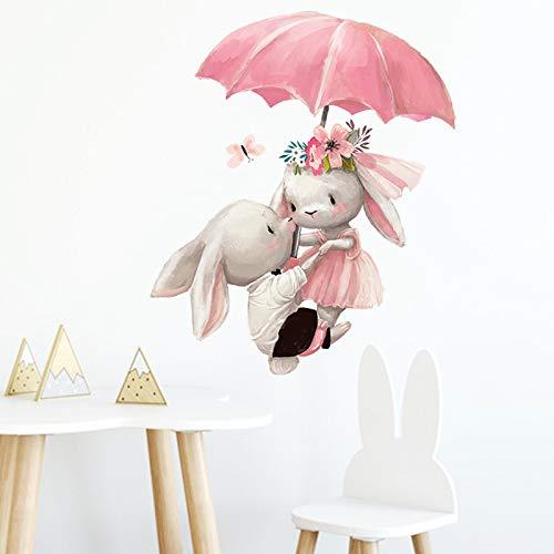Clest F&H Umbrella Wandtattoo Babyzimmer