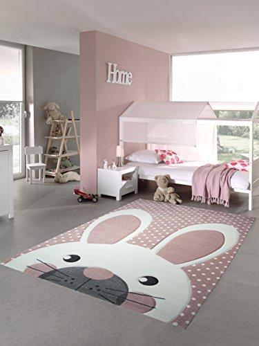 Spielteppich rosa Hase Kinderzimmer