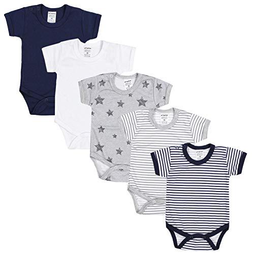 TupTam Jungen Baby Body Kurzarm in Unifarben - 5er Pack