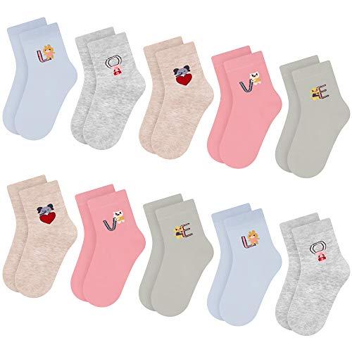 L&K Socken Mädchen 10 Paar