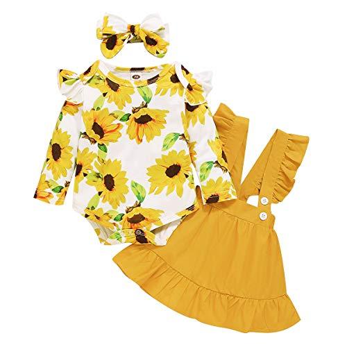 Amissz Babykleidung Set Baby Mädchen (0-24 Monate) Langarm...