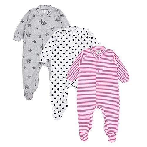 TupTam Baby Schlafanzug Mädchen 3er Pack