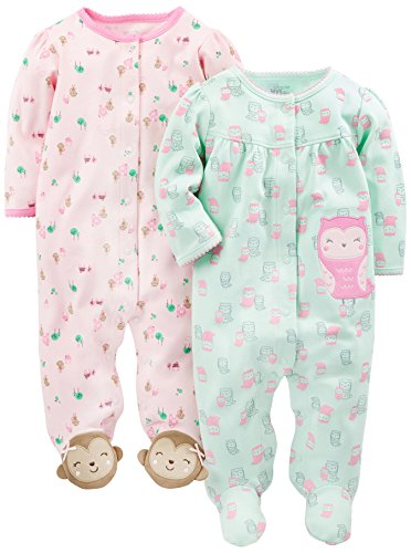 Simple Joys by Carter's Schlafanzug Mädchen 2er Pack