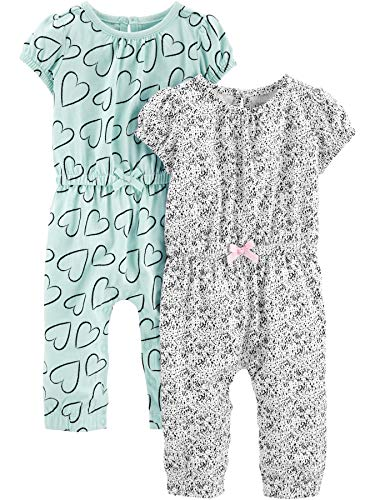 Simple Joys by Carter's Baby Jumpsuit Mädchen 2er Pack