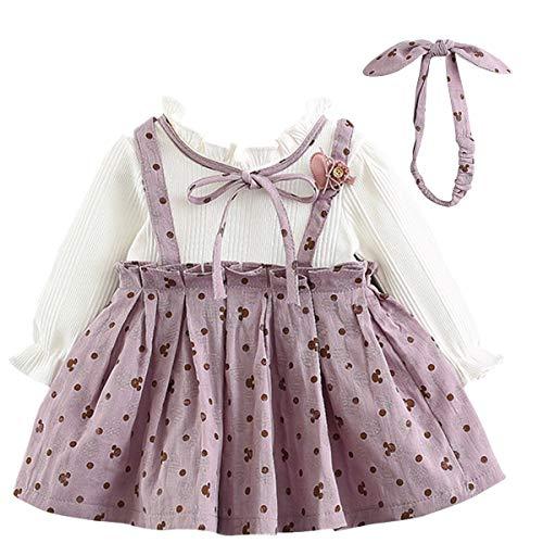 LZH Baby Mädchen Herbst Kleid Baumwolle Lange Ärmel Prinzessin...