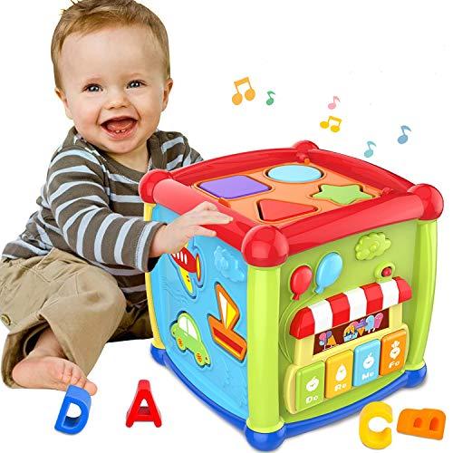 ATCRINICT Baby Aktivität Würfel Spielzeug für 1 Jahre altes...