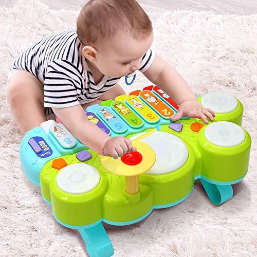 Babyklavier mit Trommel und Xylophon